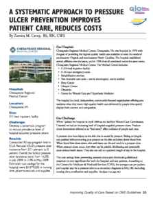 A Systematic Approach to Pressure Ulcers Case Study
