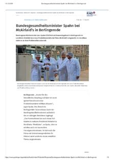 Bundesgesundheitsminister zu Besuch in Berlingerode
